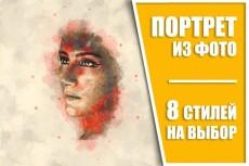 Сделаю портрет по фото для печати на холсте. Предлагаю сотрудничество 17 - kwork.ru