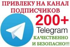600 подписчиков на канал Телеграм. Живые исполнители 4 - kwork.ru