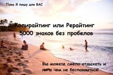 Качественный рерайт с элементами копирайтинга 4 - kwork.ru