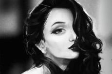 Сделаю ваш портрет в стиле наброска по фотографии 4 - kwork.ru