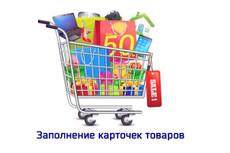 наполню Ваш интернет-магазин карточками товаров до 100 штук 4 - kwork.ru