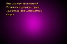 Вручную соберу актуальную базу данных за 1 день 17 - kwork.ru