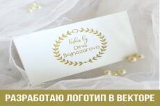 Логотип в векторе по вашему эскизу 35 - kwork.ru
