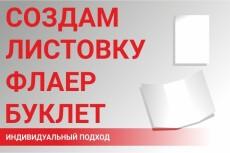 Создам дизайн-макет флаера/листовки/буклета 10 - kwork.ru