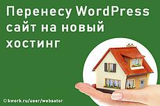 Перенос сайта на WP Wordpress cms на новый хостинг 7 - kwork.ru