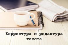 Сделаю из текста конфетку. Редактура и корректура любого текста 32 - kwork.ru