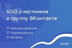 Безопасно. 500 живых участников в группу в ВК 6 - kwork.ru