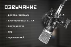 Диктор. Озвучу текст для рекламы, презентации, видеоролика. Быстро 2 - kwork.ru