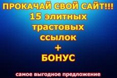 10 жирных вечных ссылок с трастовых сайтов с Высоким ТИЦ 17 - kwork.ru