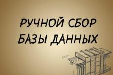 Сбор базы данных вручную из открытых источников 13 - kwork.ru