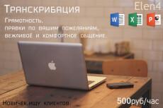 Транскрибация 120 минут аудио, видео. рус. , англ. , итал. языки 21 - kwork.ru