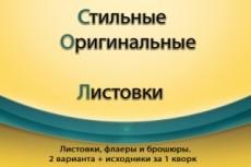 Листовки, флаеры, брошюры 19 - kwork.ru