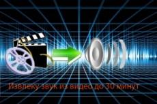 Обработка аудио, импорт звуковой дорожки из видео 13 - kwork.ru