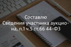 Составлю Форму 2 для эл. аукциона 7 - kwork.ru