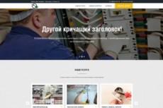 Лендинг - Автозапчасти. Шаблон сайта по продаже автозапчастей 21 - kwork.ru