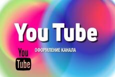 Оформление Youtube канала. Аватар в подарок 5 - kwork.ru