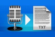 сделаю транскрибацию аудио или видео в текст 10 - kwork.ru