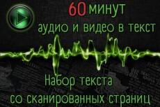 Транскрибация. Расшифровка аудио, видео в текст 9 - kwork.ru