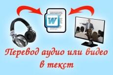 Расшифровка аудио,видео, фотографии в текст 20 - kwork.ru