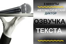 Диктор для ваших проектов 20 - kwork.ru