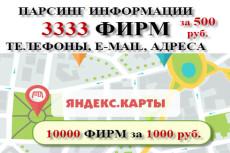 Парсинг информации с Яндекс Карт 11 - kwork.ru