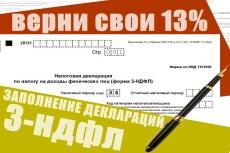 Заполню налоговую декларацию 3 ндфл 7 - kwork.ru