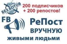 400 постов в 200 группах Фейсбук за 2 дня 6 - kwork.ru