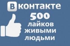 1000 лайков в Facebook живыми людьми 5 - kwork.ru