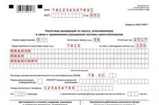 Составление декларации УСН 6 %, расчет аван.платежа 20 - kwork.ru