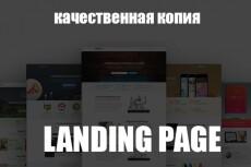 Скопировать Landing page, одностраничный сайт, посадочную страницу 22 - kwork.ru