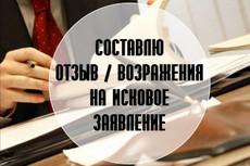 Составлю отзыв на исковое заявление в арбитражный суд 17 - kwork.ru