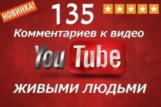 135 комментариев к видео YouTube 18 - kwork.ru