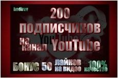 700 Подписчиков на канал youtube 17 - kwork.ru