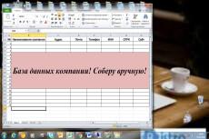 Ручной сбор базы данных разных компаний 6 - kwork.ru