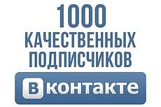 Продвижение группы или личной страницы Вконтакте 1000+ подписчиков 10 - kwork.ru