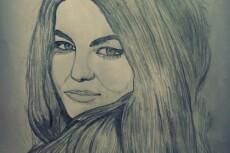 Простой карандаш и краски, портрет по Вашему фото 25 - kwork.ru