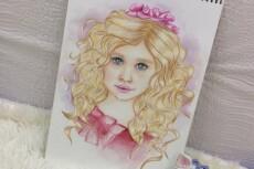 нарисую женский скетч портрет 14 - kwork.ru