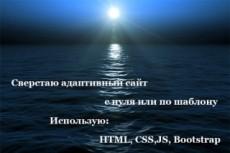 Html верстка сайта по PSD макету 44 - kwork.ru