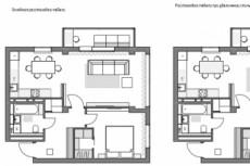 Выполню планировку и перепланировку квартиры 19 - kwork.ru