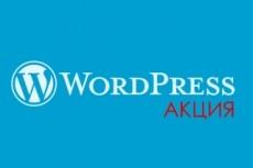 Установка wordpress на хостинг + шаблон Avada 6 - kwork.ru