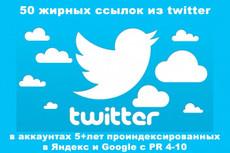 500 ссылок в Твиттер 23 - kwork.ru