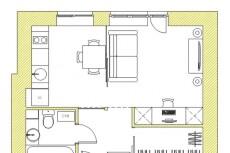 Планировка квартиры с расстановкой мебели 54 - kwork.ru