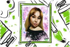 Создание арт портрета по фото 5 - kwork.ru