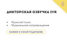 Сведение аудиоролика. Реклама, IVR, Презентация, Инфографика 18 - kwork.ru