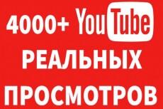 1000 Youtube просмотров с бонусами 12 - kwork.ru