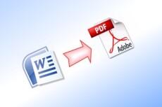 Распознаю и переконвертирую текст из PDF, DjVu, JPG файла в WORD 20 - kwork.ru