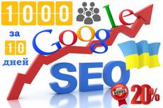 Увеличим количество посетителей сайта на 400 в сутки в течение месяца 18 - kwork.ru