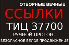 4 вечные ссылки, общий тиц 670400 4 - kwork.ru