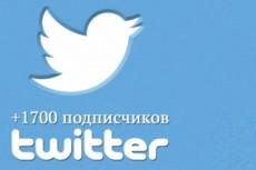 Добавлю 500 качественных фолловеров на Ваш аккаунт в твиттере 15 - kwork.ru