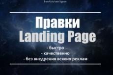 Правки в лендинг 3 - kwork.ru